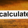 Calculate — Stock Photo