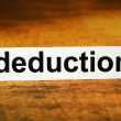Stock Photo: Deduction