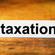 Taxation — Stock Photo