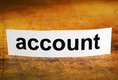 Account — Stock Photo