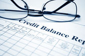Credit balance report — Stock Photo