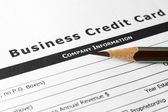 Business credit card — Stock Photo