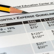 Stock Photo: Monthly expense guidelines