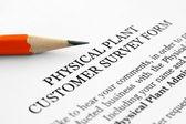 Customer survey form — Stock Photo