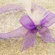 Purple ribbon — Stock Photo