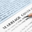 Stock Photo: Marriage contract