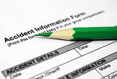 Accident information form — Stock Photo