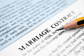 Marriage contract — Stock Photo