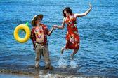 Hawaiian Tourists — Stock Photo