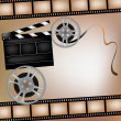 Royalty-Free Stock Vectorafbeeldingen: Background with film and club board