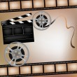 Royalty-Free Stock Imagem Vetorial: Background with film and club board