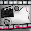 Background with film and club board - Stock Vector
