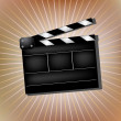 Cinema clapper - Stock Vector