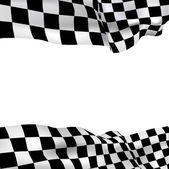 Background checkered flag — Stock Vector