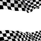 背景方格的旗 — 图库矢量图片