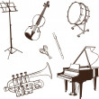 Stock Vector: Set of musical Instruments