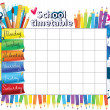 School timetable — Image vectorielle
