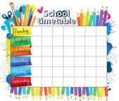 School timetable — Stock Vector