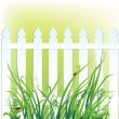 Fence and grass — Stock Vector