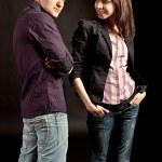 Fashionable young couple — Stock Photo