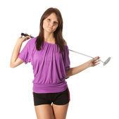 Unga golf spelare — Stockfoto