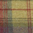 Wool plaid fabric texture macro — Stock Photo