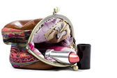 The handwork does Makeup bag — Stock Photo