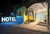 Hotel entrance — Stock Photo