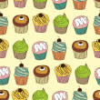 Cupcake seamless pattern — Stock Vector #5570290