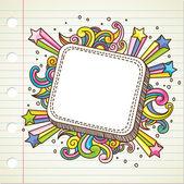 Burst doodle — Stock Vector