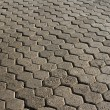 Stone block paving — Stock Photo