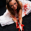 Portrait of the woman in blood — Stock Photo #6379768