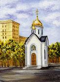 Chapel of sacred Nikolay, Russia — Stock Photo