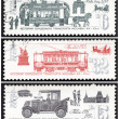 Stock Photo: Stamp, ancient transport