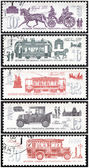 Stamp, ancient transport — Stock Photo