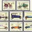 Stamp: Mersedes, set - Stock Photo