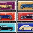 Stock Photo: Stamps: old Russicars, set