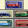 Stamps old Russian bus, set - Stock Photo