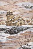 Painting, the Church, Kizhi, Russia. — Stock Photo
