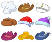 Hats, set — Stock Vector