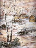 Het dorp siberische — Stockfoto