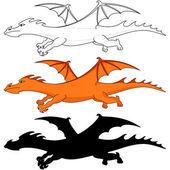 Fantastic dragons — Stock Photo