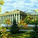 Opera and ballet theatre, Russia — Stock Photo