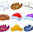 Hats, set - Stock Photo