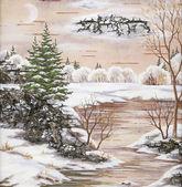 川のある冬景色 — ストック写真