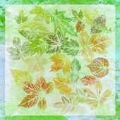 Abstract background, watercolor: leafs — Stock Photo