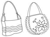 ženské kabelky, kontury — Stock fotografie