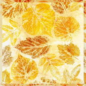 Streszczenie tło, akwarela: liście — Fotografia Stock
