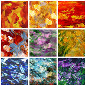 Abstract backgrounds, oil paints, set — Stock Photo