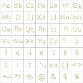 Alphabet de l'empreinte humaine — Photo